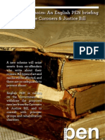 Criminal Memoirs - An English PEN Briefing