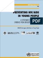 Preventing HIV in Young People