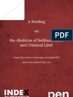 The Abolition of Seditious Libel