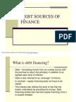 Debt Sources of Finance