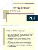 Debt Sources of Finance
