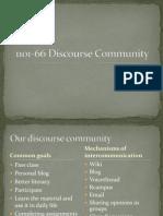 1101-66 Discourse Community