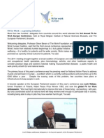 FfW 2011 Conference Summary Report - one pager