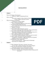 Final Exam HDF 313