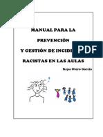 Manual para la prevención y gestión de incidentes racistas en las aulas