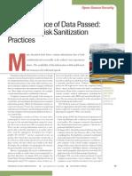 Disk Sanitization Practices