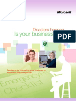 Disaster Preparedness eGuide by Microsoft