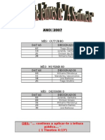 Programa de Leitores de a Sentinela Out Nov e Dez 20074