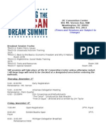2011 Defending the American Dream Summit Agenda