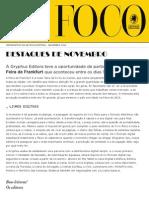 Newsletter - Novembro de 2011