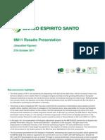 Banco Espirito Santo présentation