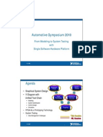 07 Ni From Modeling to System Testing With Single Hardware and Software Platform as 2010 Slo