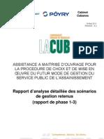 CUB ASS - AMO - RAP - Analyse détaillée des scénarios de g…