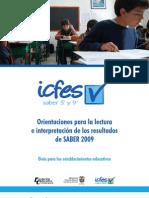 Orientaciones para la lectura e interpretación de los resultados. Guía para los establecimientos educativos