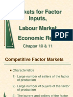 Input Market and Rent Ch 10&11