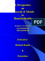 A Perspective on Minerals and Metals in Human Health