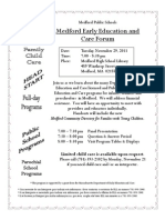 Medford Early Education and Care Forum November 29