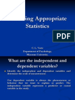 Choosing Appropriate Statistics