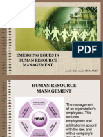 Issue Emerging in Human Resource Management