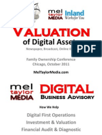 Valuation of Digital Assets. Inland Press. Oct 2011