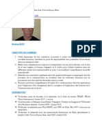 Reniteau JEAN - Curriculum Vitae