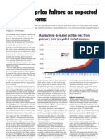 Aluminium market outlook,Aluminium Times, October 2011