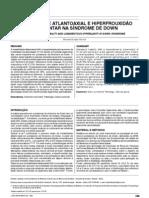 !Instabilidade atlantoaxial e hiperfrouxidão ligamentar na síndrome de down