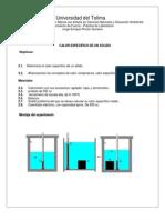 Calor específico de un sólido - Lab