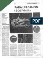 Canon de poesía boliviana