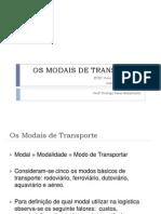 Os modais de transporte
