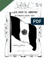 Chile ante el árbitro. Su conducta desde 1820. (1924)