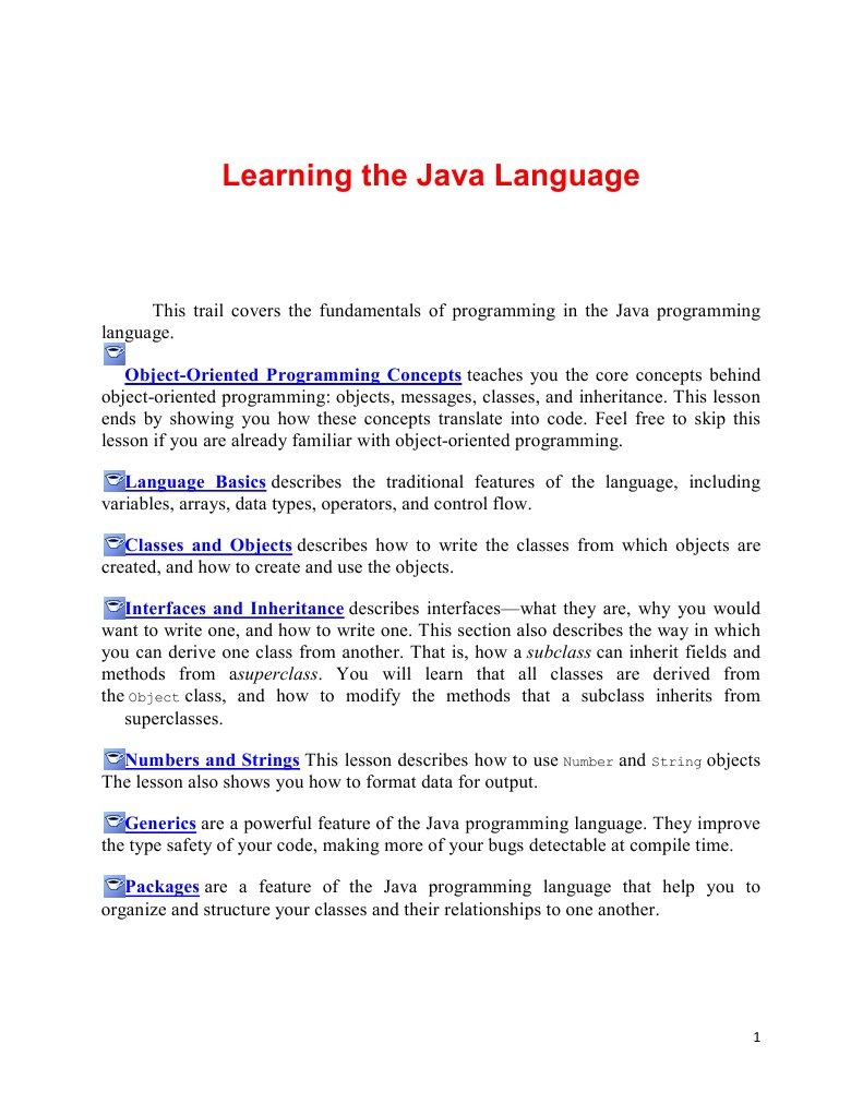 Learning the Java Language | Inheritance (Object Oriented
