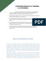 Gbi Contribuciones de La Carrera a La Sociedad Unificacion
