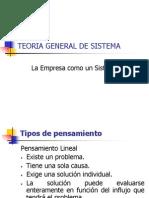 Teoria General de Sistema (Tgs)