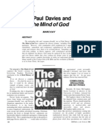 Paul Davies and the mind of God