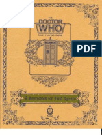 Doctor Who RPG (2 of 3) - Source Book for Field Agents