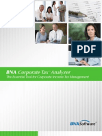 BNA Corporate Tax Analyzer Product Brochure