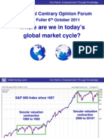 Where Are We Into Days Global Market Cycle David Fuller