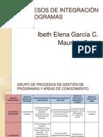 PROCESOS DE INTEGRACIÓN DE PROGRAMAS