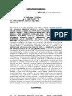 CARTA PODER Demanda Maestros vs. Evaluación 31 octubre 2011