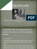 Ovide Decroly PRESENTACION  ppt