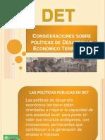 Consideraciones sobre políticas de Desarrollo Económico Local