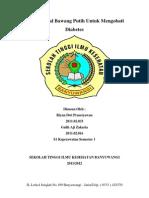 Makalah B.indonesia (Bawang Putih Mengatasi Diabetes)
