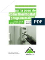 La Pose de Votre Thermostat Program Able