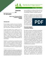 Proceso de Urbanizacion y Sostenibilida en El Salvador