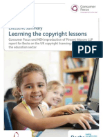 Consumer Focus and NEN Exec Summary Learning the Copyright Lessons