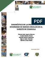 Diagnostico de La Produccion y Divers Id Ad de Maices en Coahuila