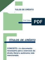 Unidade 5 - Títulos de Crédito - 2010