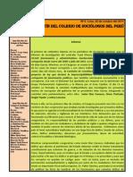 Boletin N° 6 Colegio de Sociologos Del Peru
