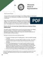 Letter to Gov. Dayton - Racino 11-4-11